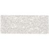 Swarovski Crystal Rock Rectang 63.5x25mm Silvershade Crystal